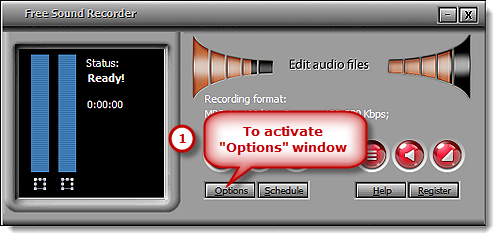 Activate the Options Window