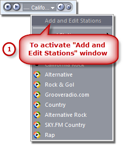 Activate Add and Edit Stations Window